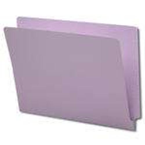 Smead Colored End Tab File Folder, Shelf-Master Reinforced Straight-Cut Tab, Letter Size, Lavender, 100 per Box (25410)