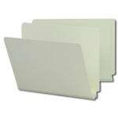 "Smead End Tab Pressboard File Folder, Straight-Cut Tab, 2"" Expansion, Letter Size, Gray/Green, 25 per Box (26210)"
