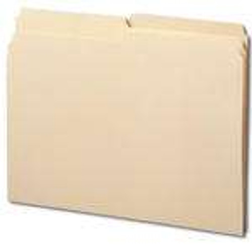 Smead Folder,  1/2-Cut Tab, Letter Size, Manila, 100 Per Box (10320) - 5 Boxes
