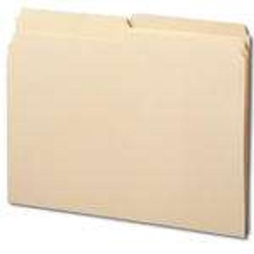 Smead Folder,  1/2-Cut Tab, Letter Size, Manila, 100 Per Box (10320) - 5 Boxes