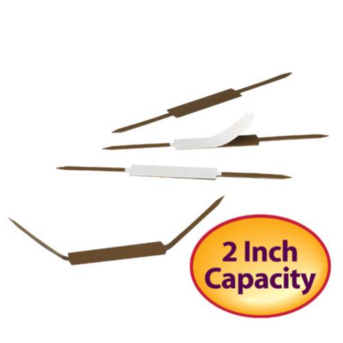 """Smead Self-Adhesive Fastener, 2"""" Capacity, Brown, 100 per Box (68220)"""