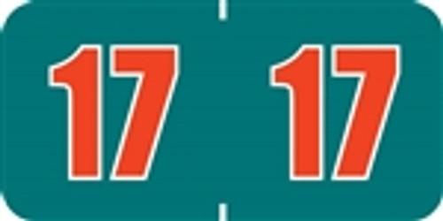 POS Yearband Label - PBYV Series (Rolls) - 2017 - Blue/Orange
