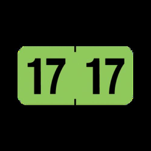 Medical Arts Press Yearband Label (Rolls) 500 - 2017 - Light Green - MAYM Series