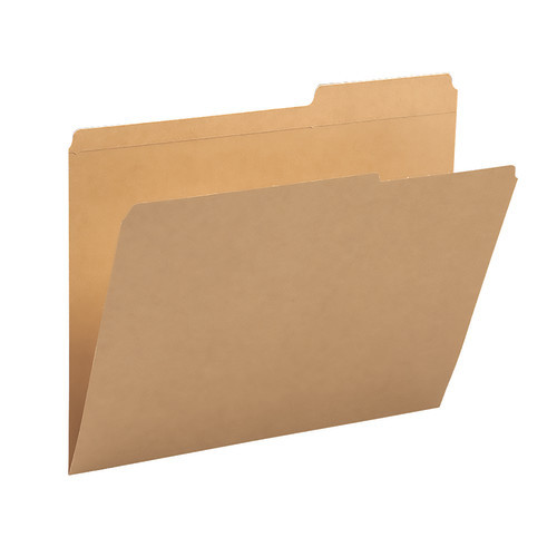 Smead File Folder, Reinforced 2/5-Cut Tab Right Position, Guide Height, Letter Size, Kraft, 100 per Box (10786)