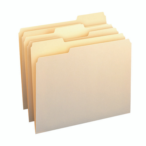 Smead File Folder, 1/3-Cut Tab, Assorted Position, Letter Size, Manila, 24 per Pack (11928) - 10 Packs