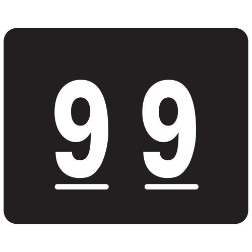 Smead TTS Color-Coded Numeric Label, 9, Label Sheet, Black, 500 per Roll (67349)