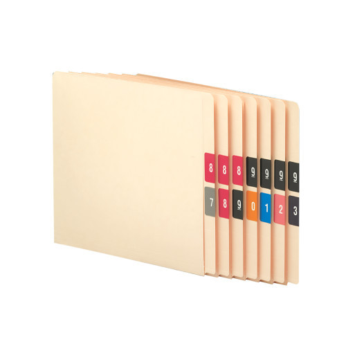 Smead DCC Color-Coded Numeric Label, 0-9, Label Roll, Assorted Colors (67430)