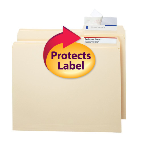 Smead Seal and View Clear Label Protector, Size 3-1/2x1-11/16-Inches before folding, 100 per Pack (67600) - 5 Packs