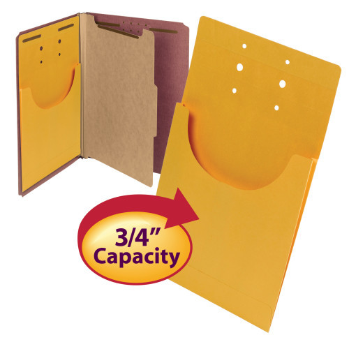 "Smead File Retention Jacket, 3/4"" Expansion, Letter/Legal, Kraft, 100 per Box (68196)"