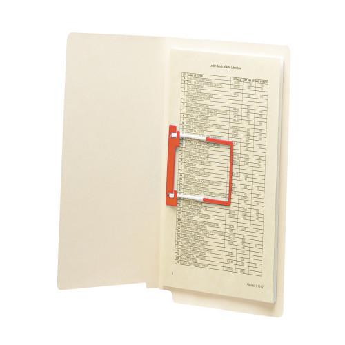 "Smead U-Clip Bonded Fastener, 2"" Capacity, Red, 100 per Box (68260)"