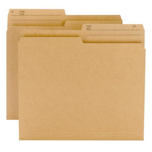 Smead Reversible File Folder, 1/2-Cut Right Printed Tab, Legal Size, Natural Sand, 100 Per Box (15340)