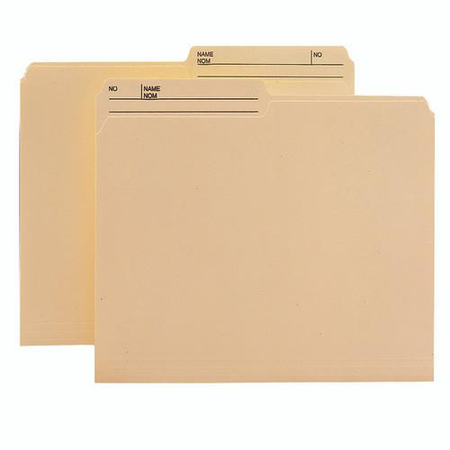 Smead WaterShed/CutLess File Folder, 1/2-Cut Right Printed Tab, Legal Size, Manila, 100 per Box (15390)