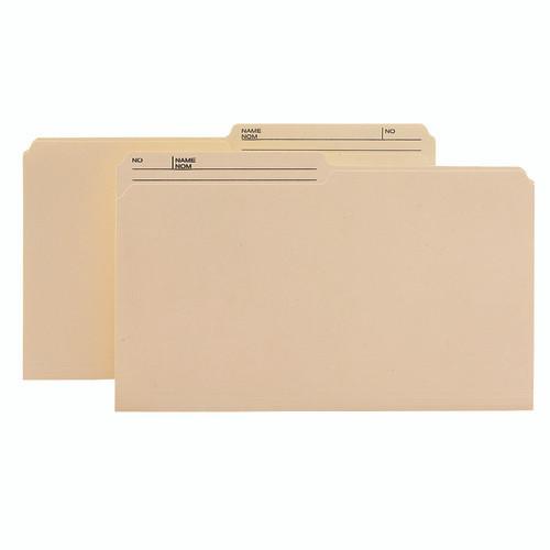 Smead Reversible Heavyweight File Folder, 1/2-Cut Right Printed Tab, Legal Size, Manila, 100 per Box (15445)
