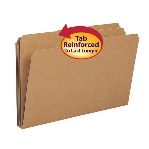 Smead File Folder, Reinforced 1/3-Cut Tab, Legal Size, Kraft, 100 per Box (15734) - 5 Boxes