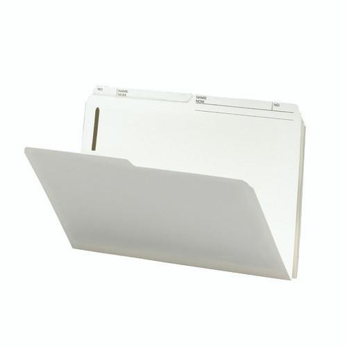 Smead Fastener File Folder, 2 Fasteners, 1/2-Cut Printed Tab, Legal Size, Ivory, 50 per Box (19570)