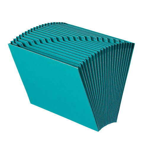Smead Expanding File, Alphabetic (A-Z), 21 Pockets, Letter Size, Teal (70717)