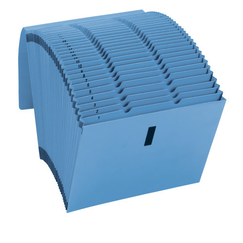 Smead WaterShed/CutLess Expanding File 70743, Daily (1-31), 31 Pockets, Flap with VELCRO Closure, Letter Size, Blue (70743) - Total of 5