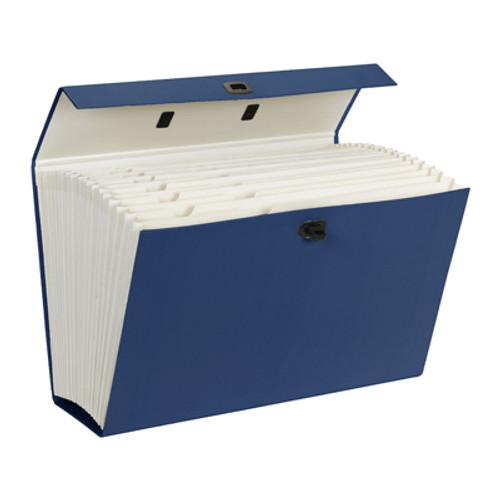 Smead Portable Expanding File Box, 19 Pockets, Alphabetic (A-Z) and Subject Labels, Legal, Blue ( 70806) - 4/Carton