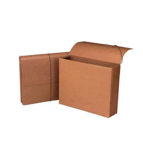 """Smead Wallet 71009, 5-1/4"""" Expansion, Flap and Cord Closure, Letter Size, Redrope, 10 per Box (71009)"""