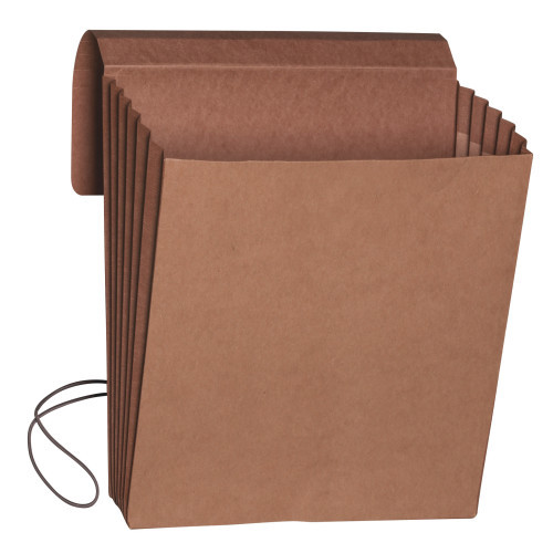"""Smead Wallet, 5-1/4"""" Expansion, Flap and Cord Closure, Letter Size, Redrope, 10 per Box (71109)"""
