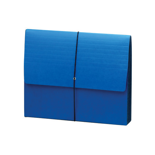"""Smead Expanding Wallet, 5-1/4"""" Expansion, Flap and Cord Closure, Extra Wide Letter Size, Navy, 10 per Box (71122)"""
