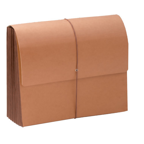 """Smead TUFF Wallet, 7"""" Expansion, Flap and Cord Closure, Extra Wide Letter Size, Redrope, 5 per Box (71165)"""