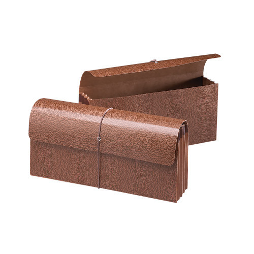 """Smead Expanding Wallet, 3-1/2"""" Expansion, Flap and Cord Closure, Redrope Gusset, 12"""" W x 5"""" H, Redrope-Printed Stock, 10 per Box (71350)"""