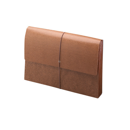 """Smead Expanding Wallet, 5-1/4"""" Expansion, Flap and Cord Closure, Redrope Gusset, Legal Size, Redrope-Printed Stock, 10 per Box (71376)"""