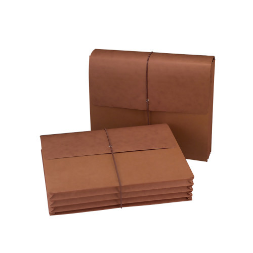 """Smead Wallet, 3-1/2"""" Expansion, Flap and Cord Closure, Letter Size, Redrope, 10 per Box (72088)"""