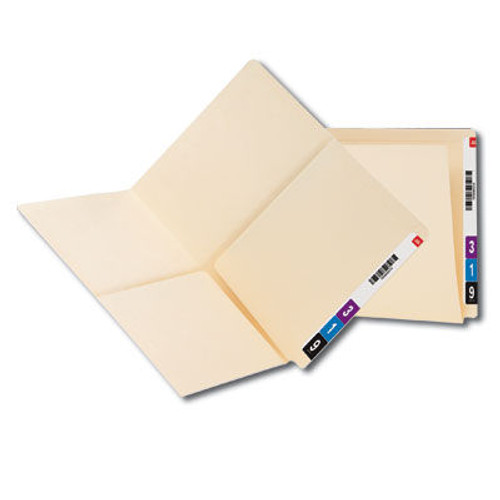 Smead 24117  End Tab Pocket Folder, 2 Pockets, 11 Pt. Manila, Reinforced Straight-Cut Tab, Letter Size, 25 per Box (24117)