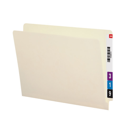 Smead End Tab File Folder, Shelf-Master Reinforced Straight-Cut Tab, Letter Size, Manila, 100 per Box (24500)