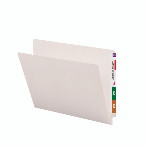 Smead End Tab File Folder, Straight-Cut Tab, Letter Size, Ivory, 100 per Box (24506)