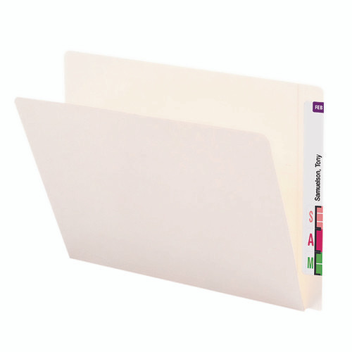 Smead End Tab Heavyweight File Folder, Reinforced Straight-Cut Extended Tab, Letter Size, Ivory, 50 per Box (24507)