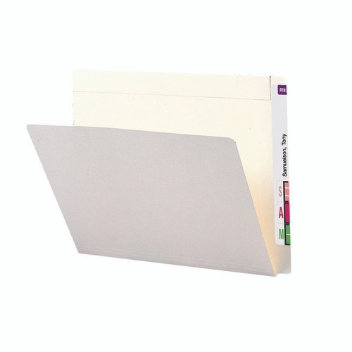 Smead End Tab File Folder, Reinforced Straight-Cut Extended Tab, Letter Size, Ivory, 100 per Box (24509)