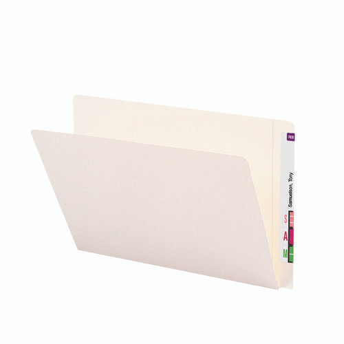 Smead End Tab Heavyweight File Folder, Reinforced Straight-Cut Extended Tab, Legal Size, Ivory, 50 per Box (24557)