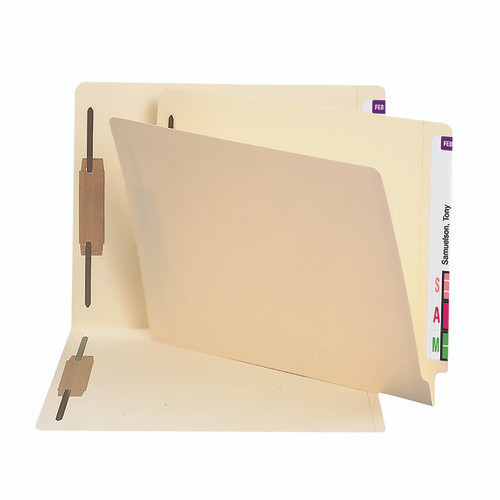 Smead End Tab Fastener File Folder, Shelf-Master Reinforced Straight-Cut Tab, 2 Fasteners, Letter Size, Manila, 50 per Box (24600)
