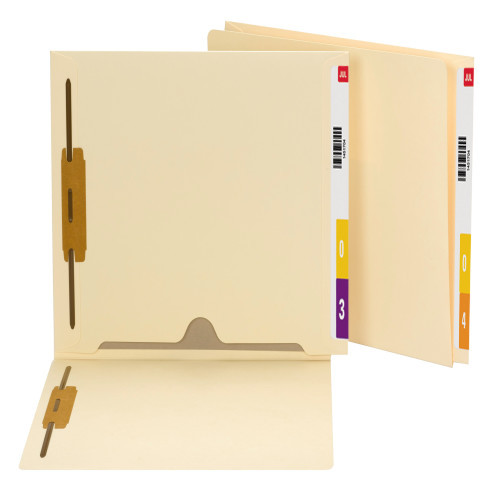 Smead End Tab Fastener File Folder with Full Pocket, Reinforced Straight-Cut Extended Tab, 2 Fasteners, Manila (34101)