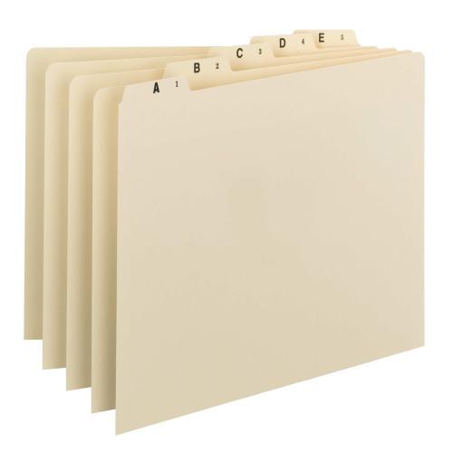 Smead Guides, Plain 1/5-Cut Tab (A-Z), Legal Size, Manila, 25 per Set (52176)