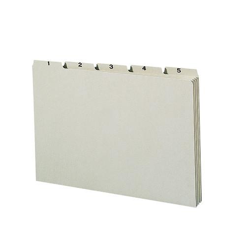 Smead Pressboard Guides, Plain 1/5-Cut Tab, Daily (1-31), Legal Size, Gray/Green, 31 per Set (52369)