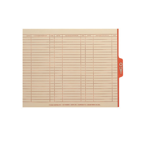 Smead End Tab Out Guides with Printed Form, 1/5-Cut Tab Center Position, Letter Size, Manila, 100 per Box (61911)