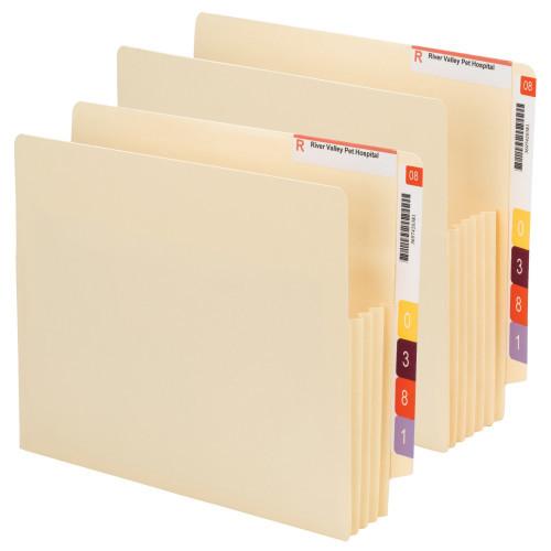 Smead End Tab Convertible File Pocket, Reinforced Split Score Ta, Tyvek-Lined Gusset, Letter, Manila (75165)
