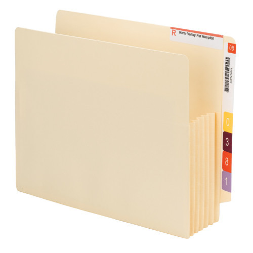 Smead End Tab Convertible File Pocket, Reinforced Split Score Tab, Tyvek-Lined Gusset, Manila (75175)