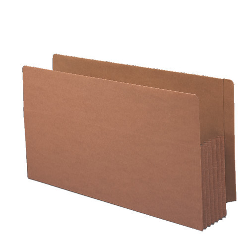 """Smead End Tab folder, Reinforced Straight-Cut Tab, 5-1/4"""" Accordion Expansion, Extra Wide Legal Size, Redrope, 10 per Box (76194)"""