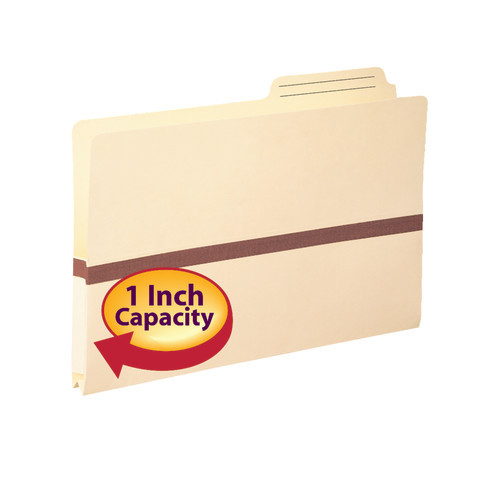Smead File folder, 2/5-Cut Printed Tab, Tyvek-reinforced, Legal Size, Manila, 50 per Box (76487)