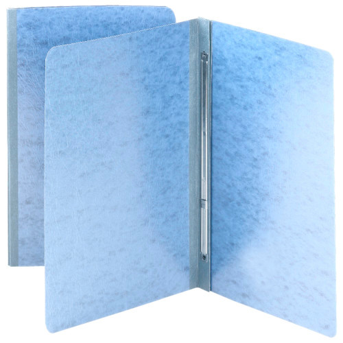 "Smead Pressboard Report Cover, Metal Prong with Compressor, Side Fastener, 350 Sheets/3"" Capacity, Letter Size, Blue, 25 per Box (81050)"