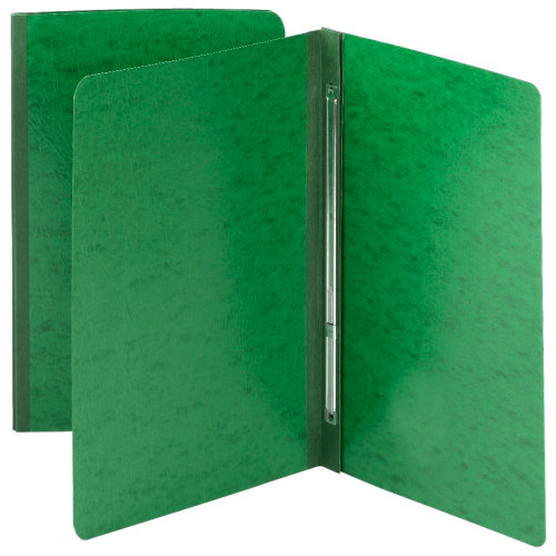 "Smead Pressboard Report Cover, Metal Prong with Compressor, Side Fastener, 350 Sheets/3"" Capacity, Letter Size, Green, 25 per Box (81451)"