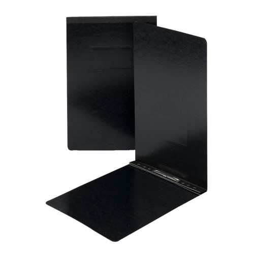 "Smead Pressboard Report Cover, Metal Prong with Compressor, Top Fastener, 250 Sheets/2"" Capacity, Legal Size, Black, 25 per Box (81733)"