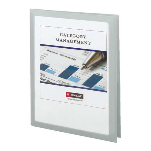 Smead Frame View Poly Two-Pocket Folder, Holds up to 100 Sheets, Letter Size, Oyster, 5 per Pack (87706) - 10 Packs