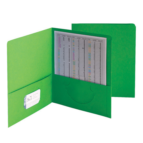 Smead Two-Pocket Heavyweight Folder, Up to 100 Sheets, Letter Size, Green, 25 per Box (87855)