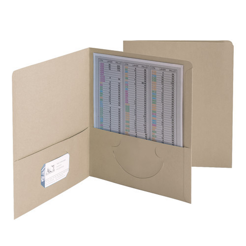 Smead Two-Pocket Heavyweight Folder, Up to 100 Sheets, Letter Size, Gray, 25 per Box (87856)